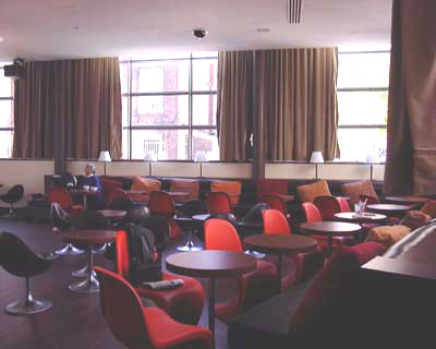 Cafe seating in 12 Lounge