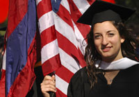 Grad with Flag