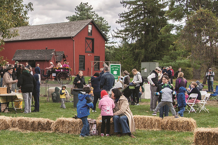 caption: Family fun at the Morris Arboretum's Bloomfield Farm Day. Photo by Bob Gutowski.