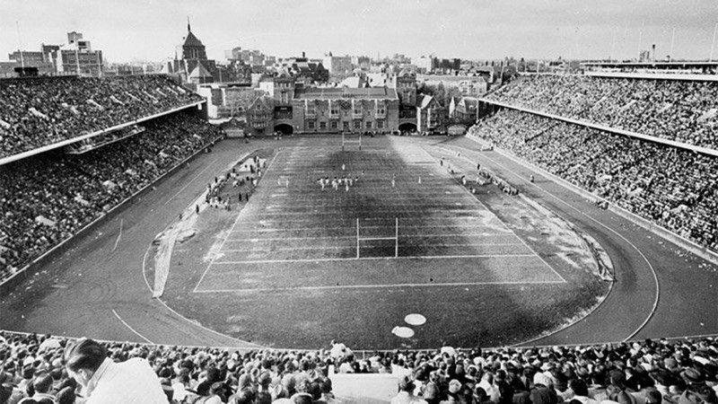 The Philadelphia Eagles called Penn's Franklin Field (above) home from 1958-1970.