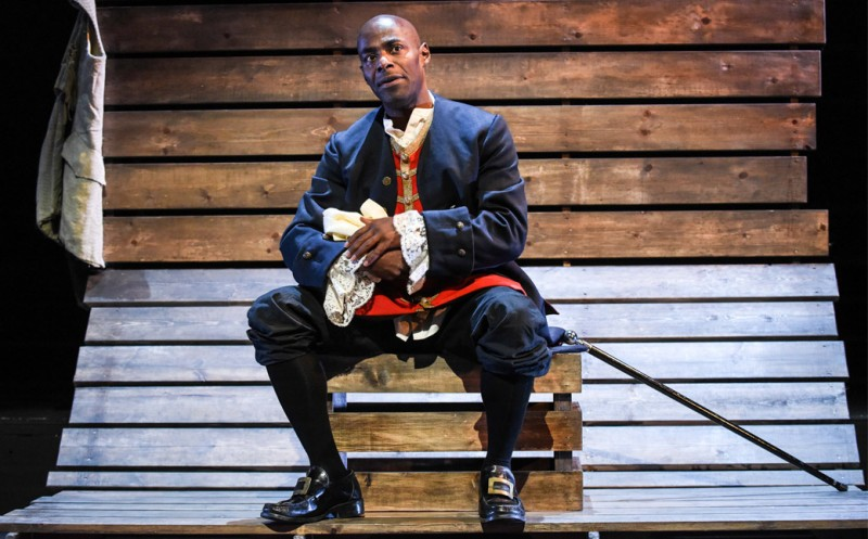 caption: Royal Shakespeare Company actor Paterson Joseph plays Charles Ignatius Sancho. Photo courtesy of the Annenberg Center.