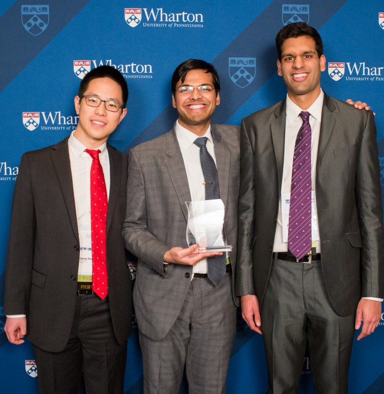 caption: Left to right: Daniel Zhang, Divyansh Agarwal, and Prateek Agarwal