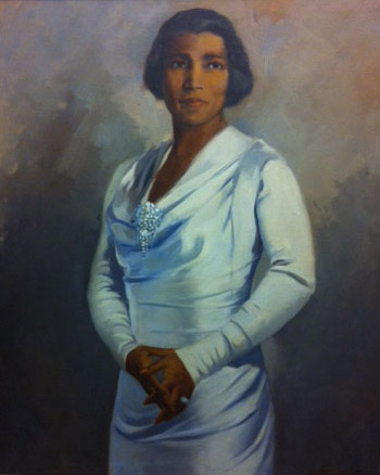 caption: Robert Savon Pious (American, 1908-1983). Marian Anderson, 1942. Oil on Canvas.